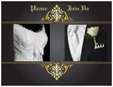 20  WEDDING Rehearsal DINNER  Invitations Dress & Tuxedo Elegant  Post CARDS USA