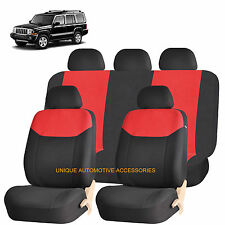RED ELEGANT AIRBAG COMPATIBLE SEAT COVER for JEEP COMMANDER COMPASS
