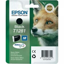 Fox Epson T1281 T 1281 Genuine Original Black Ink Cartridge Fox (C13T12814010)