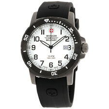 Wenger Swiss Military White Dial Silicone Strap Men's Watch 011341201C