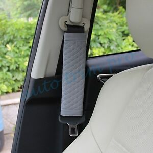 2X Inner Accessories Car Seat Belt Cover Harness Protect Belt Soft Shoulder Pads