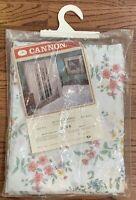 NOS Vintage Cannon No Iron Draperies Drape Set Pinch Pleat 50 X 84 Floral Print