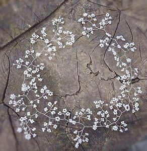 "Gypsophila Hair vine Bridal Headpiece Floral Crown Plait Vine babys breath 24"""