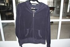 Victoria's Secret Plush and Lush Size Large Navy Terry Hoodie w/ Full Zipper