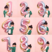 """32"""" Giant Foil Number Helium Letter Large Baloon Wedding  Birthday Party Decor Z"""