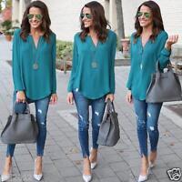 Fashion Women Blouse Chiffon Long Sleeve Ladies T Shirt Casual Loose Shirt Tops