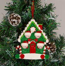 Personalised Christmas / Xmas Tree Ornament Family House Of 4
