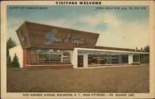 Rochester NY House of Carpets LINEN ADV Storefront Postcard