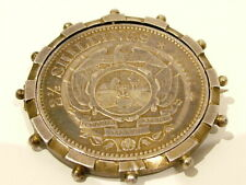1896 Solid Silver Coin Brooch Pin 062 Antique Trench Art Boer War South African
