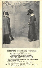 R162838 Following in Fathers Footsteps. Living Picture. 1905
