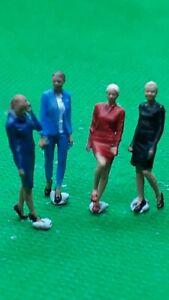 Scale 3D 00 gauge figures  handpainted young ladies x 4 office workers