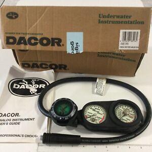 Dacor Scuba Diving 3 Gauge Console Air Pressure, Depth Compass Regulator Germany