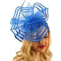 Floral Swirl Net Feathers Fascinators Headband Millinery Cocktail Derby