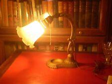 VINTAGE ART DECO/NOUVEAU DE LITE TABLE/DESK LAMP W/SHADE WORKS JUST FINE