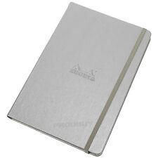 RHODIA A5 SILVER webnotebook Elastici foderati di carta rigida Notebook Gazzetta Pad