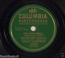 Nelson Eddy on 78 rpm Columbia 4296M: The First Nowell/Good King Wenceslas