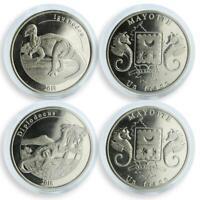 France Mayotte1 franc set of 2 coins Dinosaur 2018