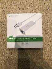 Ugreen USB 2.0 to RJ45 Ethernet Adapter Lan Network 10/100 Mbps for Macbook Wii