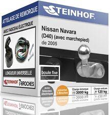 ATTELAGE fixe NISSAN NAVARA D40 avec marchepied de 2005 + FAISC.UNIV.7 broches