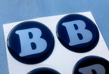 (B55SS) 4x B Embleme für Nabenkappen Felgendeckel 55mm Silikon Aufkleber