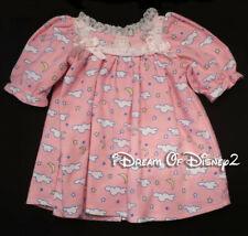 Bear Mill PINK FLANNEL GRANNY GOWN LONG NIGHTIE Fits BUILD-A-BEAR Teddy Clothes
