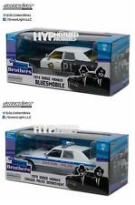 GREENLIGHT 1:24 THE BLUES BROTHERS BLUESMOBILE & CHICAGO POLICE 2PC SET