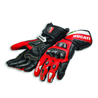 Original DUCATI Corse C3 Handschuhe Motorradhandschuhe Spidi NEU Leder rot