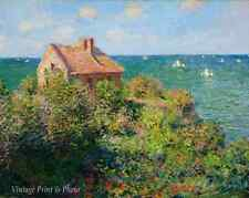 The Fishermans Cottage by Claude Monet  Ocean Sea View House 8x10 Art Print 0516