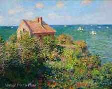The Fishermans Cottage by Claude Monet  Art Ocean Sea View House 8x10 Print 0516