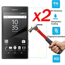 2Pcs 9H+ Premium Tempered Glass Screen Protector Film Guard For Sony Xperia