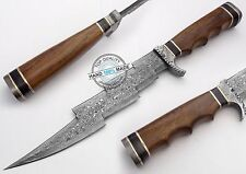 "14.50"" Custom Made Beautiful Damascus Steel Bowie Hunting Knife  (AA-0271-5)"