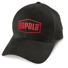 Rapala Embroidered Logo classic 6 Panel Fishing Hat - Black & Red Cap NEW!