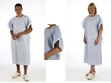 BLUE Unisex Patient Multi Purpose Gown Hospital Side Tied Patient Dignity
