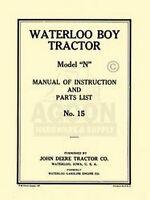 John Deere N Waterloo Boy Operators Instruction Manual