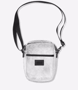 Victoria's Secret PINK LOGO Clear Sport Crossbody Bag Adjustable Strap NWT NEW
