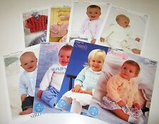 Lot of 8 Sirdar DK knitting yarn patterns for Babies and Children Premie - 6 yrs