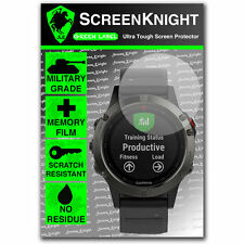ScreenKnight Garmin Fenix 5 SCREEN PROTECTOR - military shield [47mm Case]