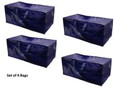 Extra Large Heavy Duty Reusable Storage Bag w/ Zipper closure (4 Pack )