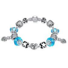 Lau-Fashion 925 Silber Bettel Armband Kette Charms Anhänger Stern Herz Ø 14mm