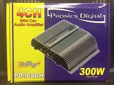 NEW Phonics Digital PD-IC4CH Mini Car Aido Amplifier 300W GREY