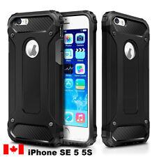 iPhone SE Case, iPhone 5 5S Case Black Superior Hybrid Armor Case - Canada Ship