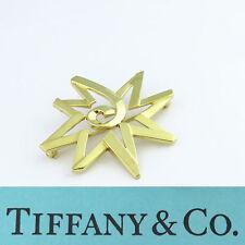 NYJEWEL Tiffany & Co. 18K Yellow Gold Paloma Picasso 8 Point Star Pin Brooch