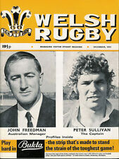 WELSH RUGBY MAGAZINE DECEMBER 1973 AUSTRALIA TOUR TO ENGLAND AND WALES