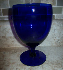 Beautiful Cobalt Blue Glass Low Wine Champagne Sorbet Buttermilk Goblet