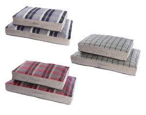 Medium & Large Soft Dog Bed Puppy Pet Washable Zipped Mattress Cushion Camden