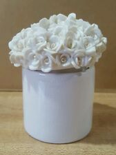 Votive Holder with Flower Covered Lid
