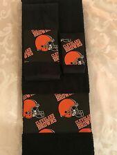 Cleveland Browns  3 Piece Bath Towel Set  Handmade   GREAT GIFT!!!