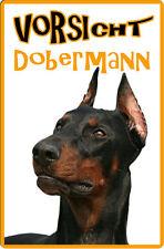 DOBERMANN - A4 Metall Warnschild SCHILD Hundeschild Alu Türschild - DBM 19 T8