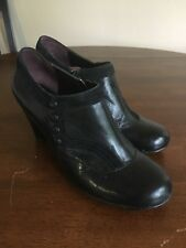 Women's Indigo by Clark's Leather Booties Black Cute Detail