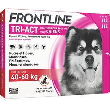 FRONTLINE TRI-ACT Chien - 40 à 60 kg - BOITE XL DE 6 Pipettes - Spot-on